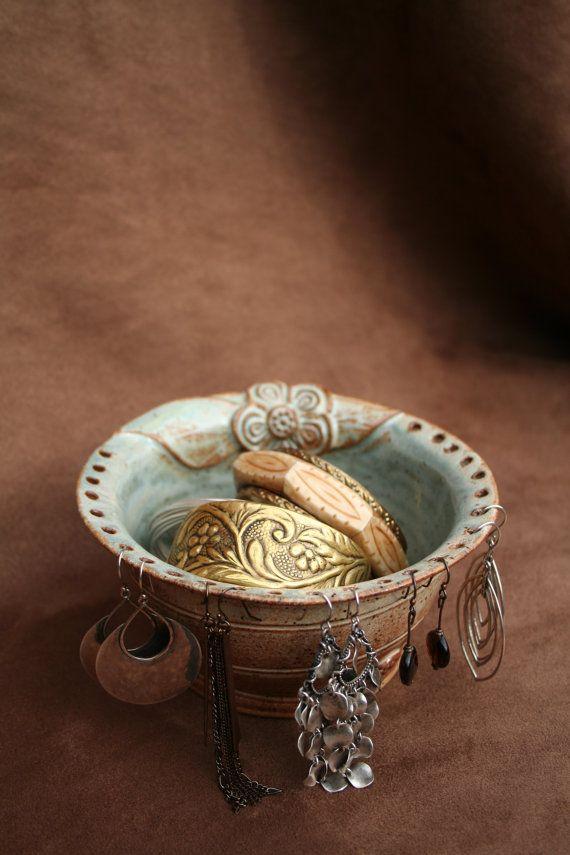 Ceramic Pottery Jewelry Bowl by CaliforniaSoulshine on Etsy, $30.00
