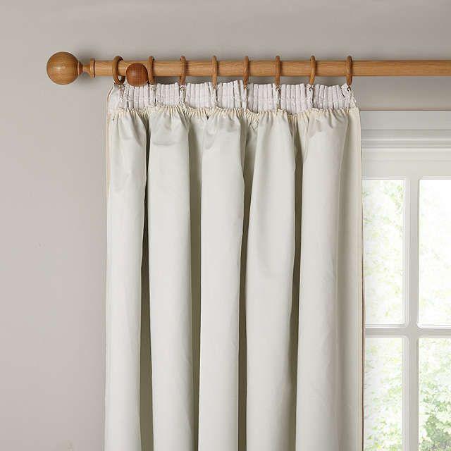 BuyJohn Lewis Pencil Pleat Blackout Curtain Linings, Ivory, W162 x Drop 130cm Online at johnlewis.com