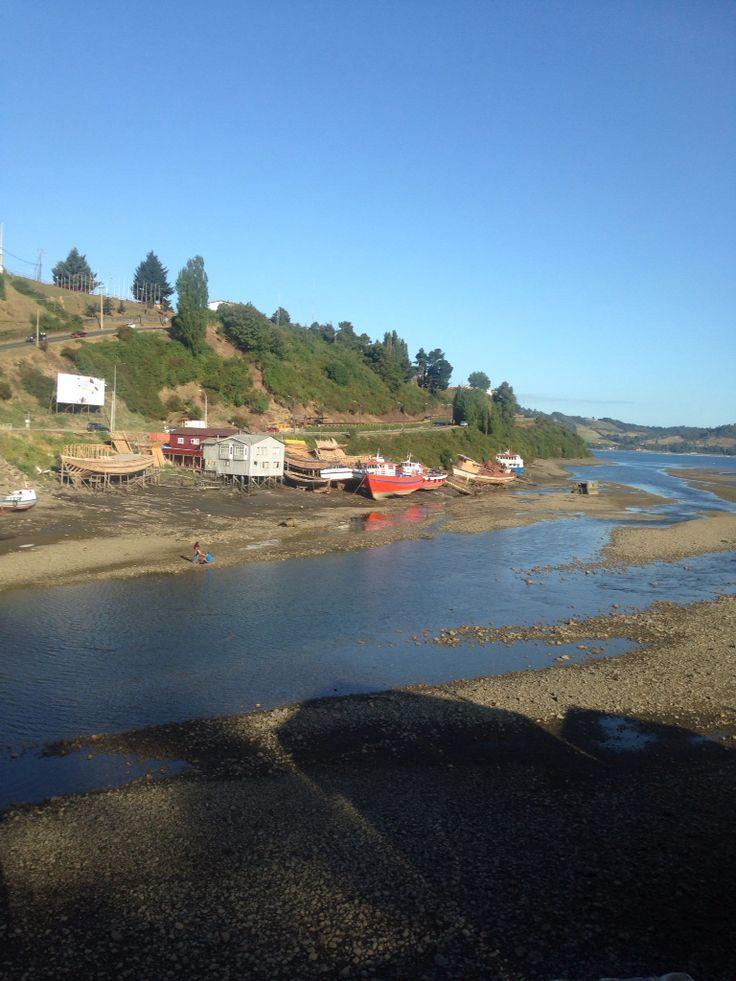 Astillero en Castro, Isla de Chiloé, Chile