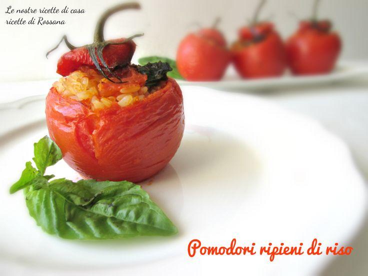 Pomodori ripieni di riso, un primo piatto #vegan