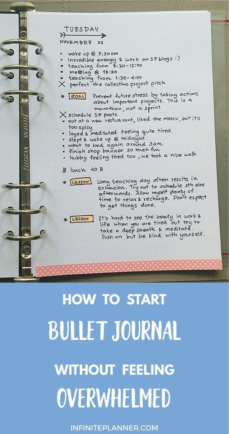 How to Start Bullet Journal without Feeling Overwhelmed - Infinite Planner