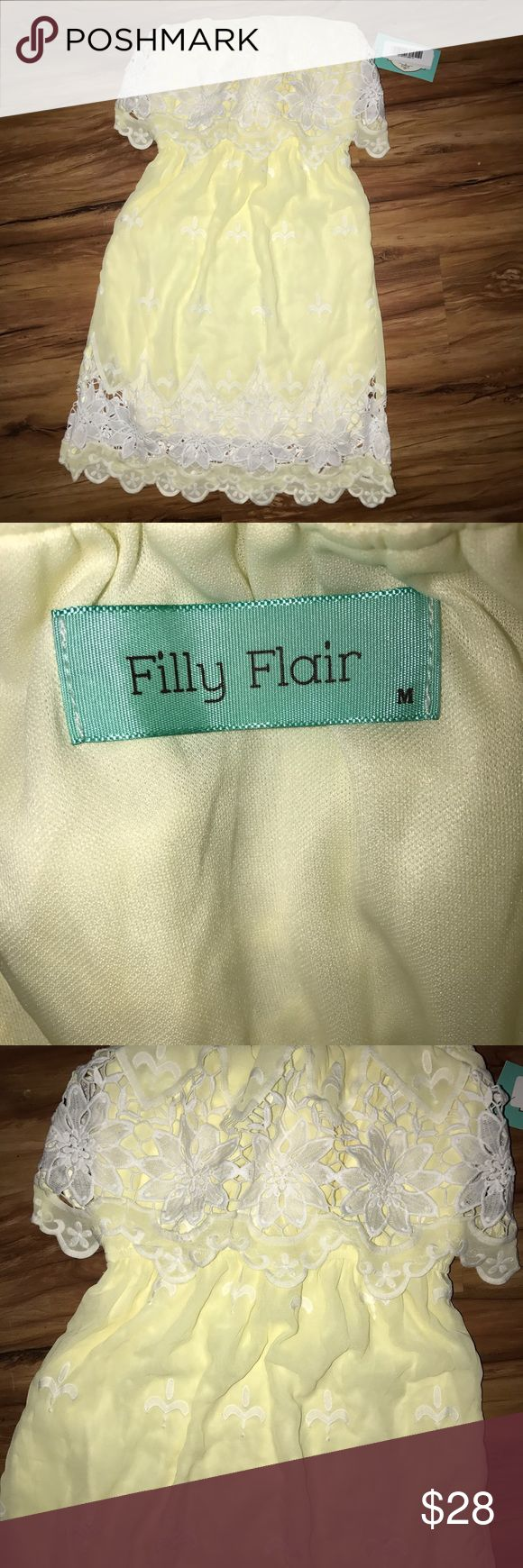 Women's M filly flair Yellow Strapless Dress NWT filly flair Dresses Strapless