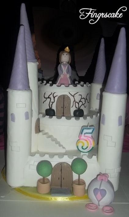 Castle princess cake