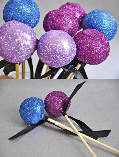 Glitter cake pops !