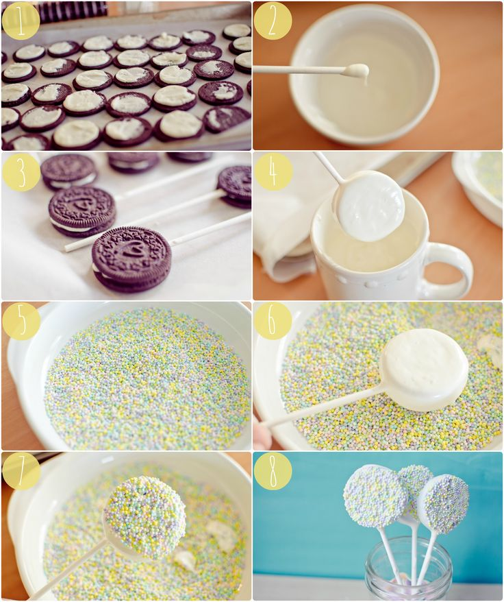 Whip up Oreo Pops for your next party or bake sale! Repin for easy step by step directions.