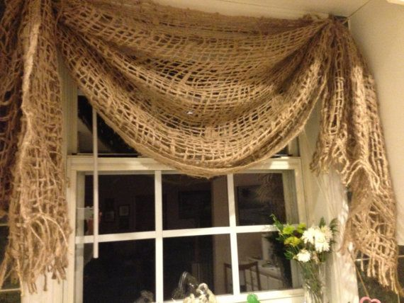 Jute Rustic  Valance by everythingburlap on Etsy