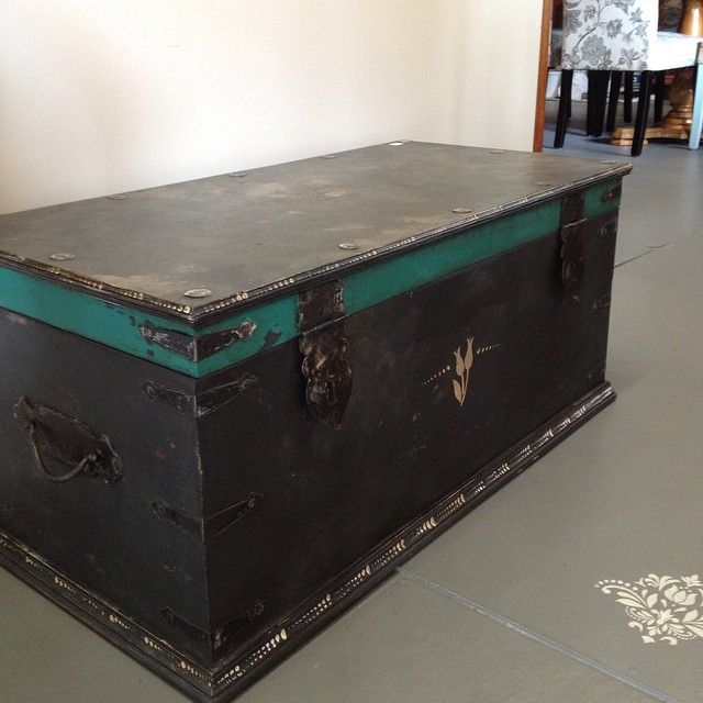 A Handsome Chest Painted In Graphite Chalk Paint® Decorative Paint By Annie  Sloan With A