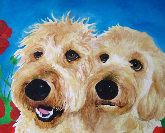 goldendoodle art on Etsy, a global handmade and vintage marketplace.