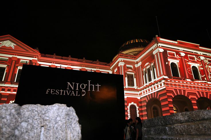 Light Installation by The Electric Canvas (Australia) tickles audiences' imagination as they transform the National Museum of Singapore into a colourful spectacle. #SGNightFest 2008