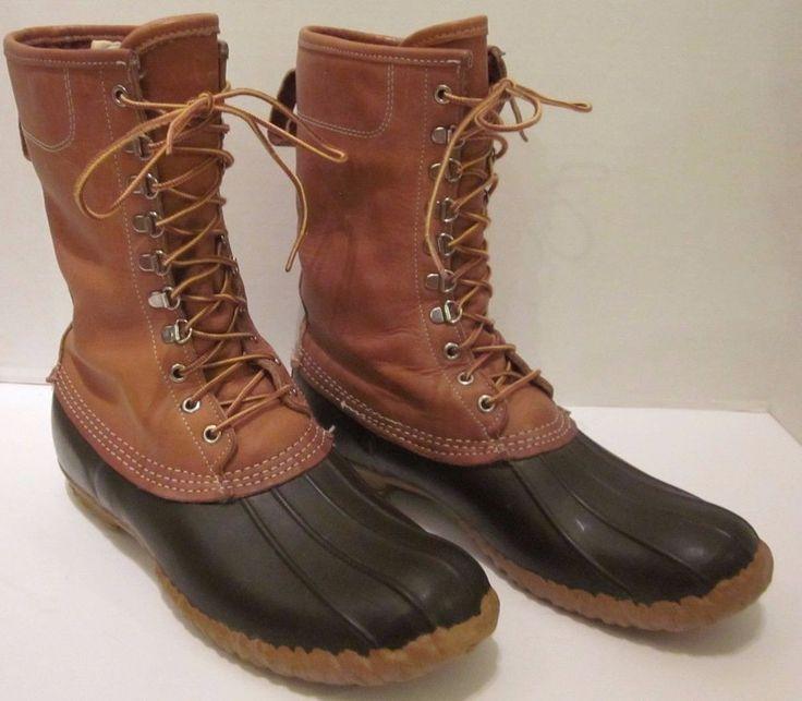 LL Bean Maine Hunting Shoe Boots Thinsulate Gore-Tex Waterproof 12 M Brown 10'' #LLBean #Hunting