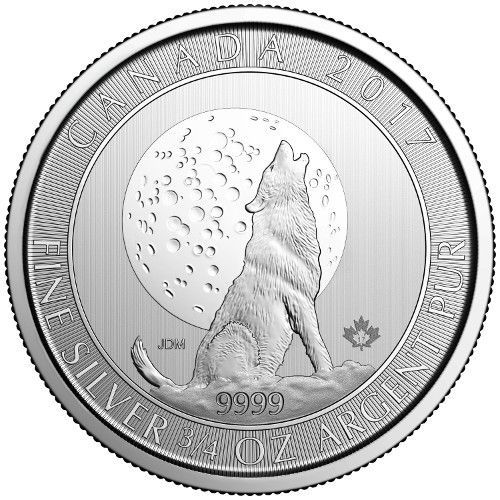 Item specifics     Brand:   RCM    Precious Metal Content per Unit:   3/4 oz     Coin:   Canadian Wildlife      2017 Canada 3/4 oz Silver Wolf Moon Coin 9999 Bullion  Price : $23.25  Ends on : 1 week Order Now