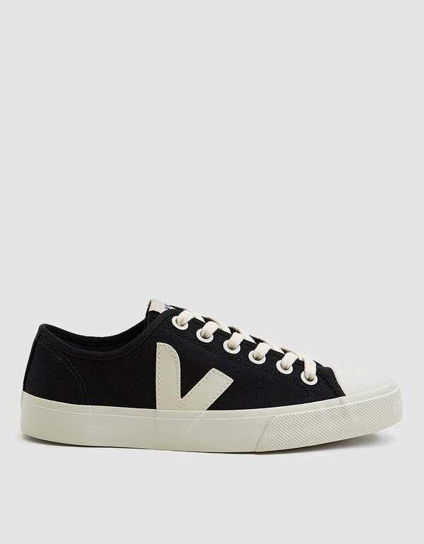 Veja Wata Canvas Sneaker in Black Pierre