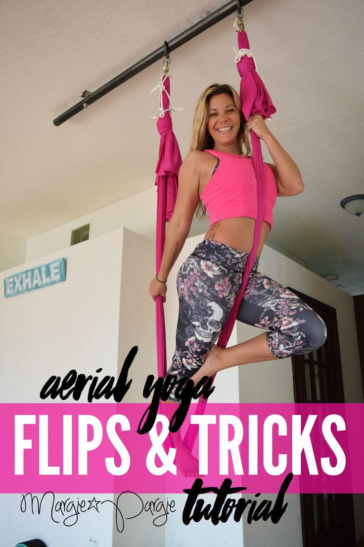 Aerial Yoga Flips & Tricks Tutorial with Margie Pargie