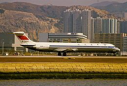 1993 ♦ October 26 – China Eastern Airlines Flight 5398, a McDonnell Douglas MD-82, overruns the runway at Fuzhou Changle International Airport in heavy weather, killing 2 of 80 on board.