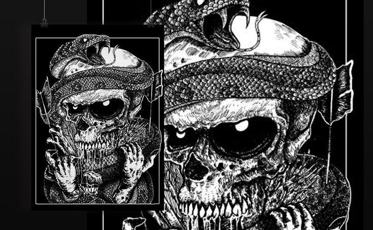 #skull #darkart #illustration #drawing #art #blackwork