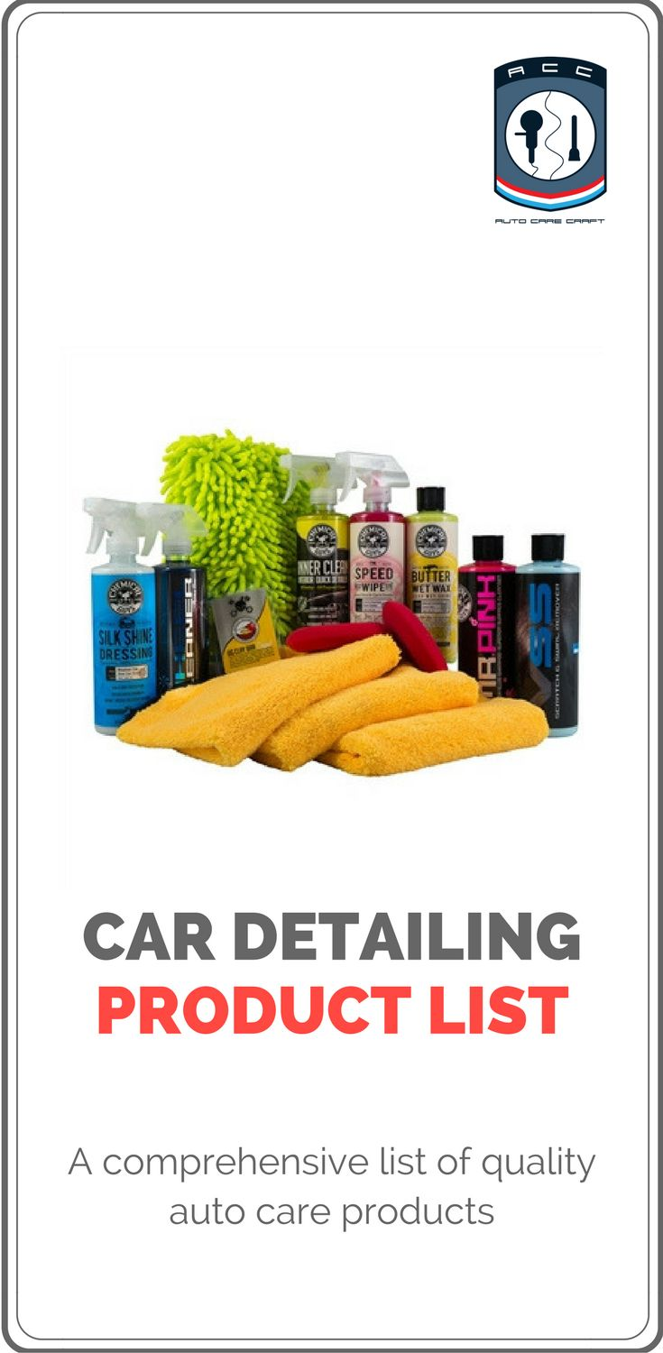 Comprehensive list of quality automotive, car and truck detailing products.