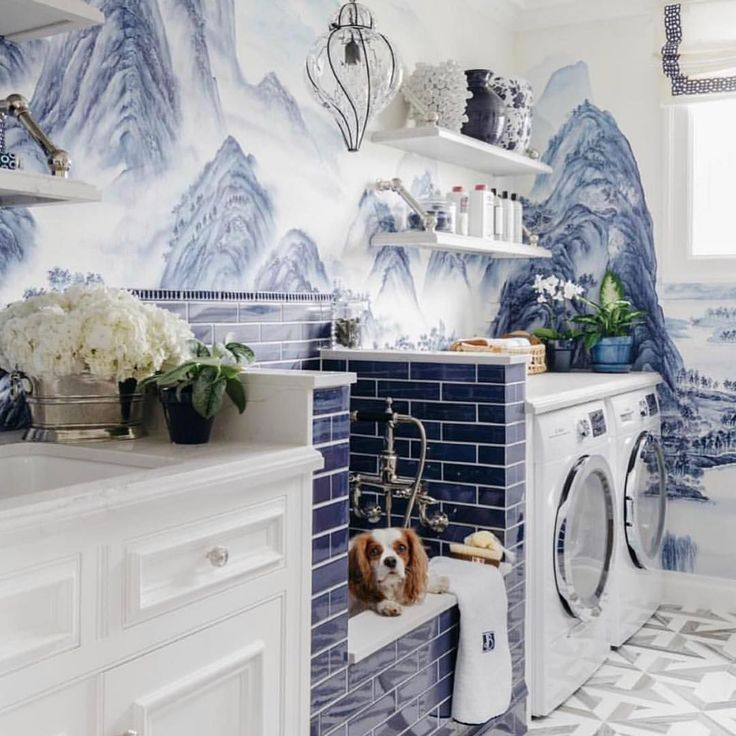 Doggy shower, mudroom laundry combo Find other home design and interior decorating ideas, tips and inspiration on my blog: http://www.inspiredtostyle.com