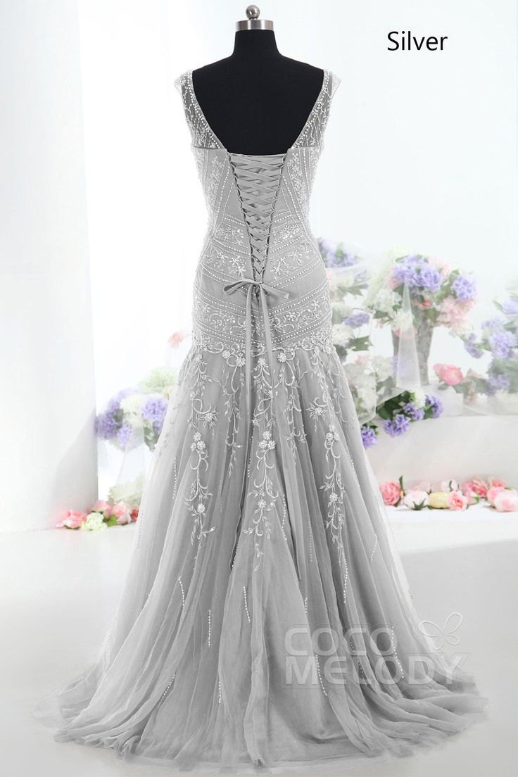 Trumpet Mermaid Tulle Mother Of The Bride Dress COLT1300F