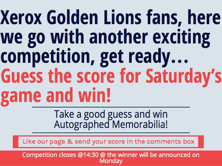 Competition time again! Stand a chance to win autographed memorabilia with Bytes Document Solutions! #lions #rugby #xerox