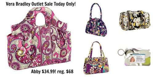 Vera Bradley Outlet Open Online Today Only! Prices Start $6.99 - http://www.qponjunkie.com/vera-bradley-outlet-open-online-today-only/