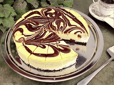 Marbled Cheesecake. My recipe is definitely better, but as long as it's not made from a packet of powder...I love cheesecake!!!