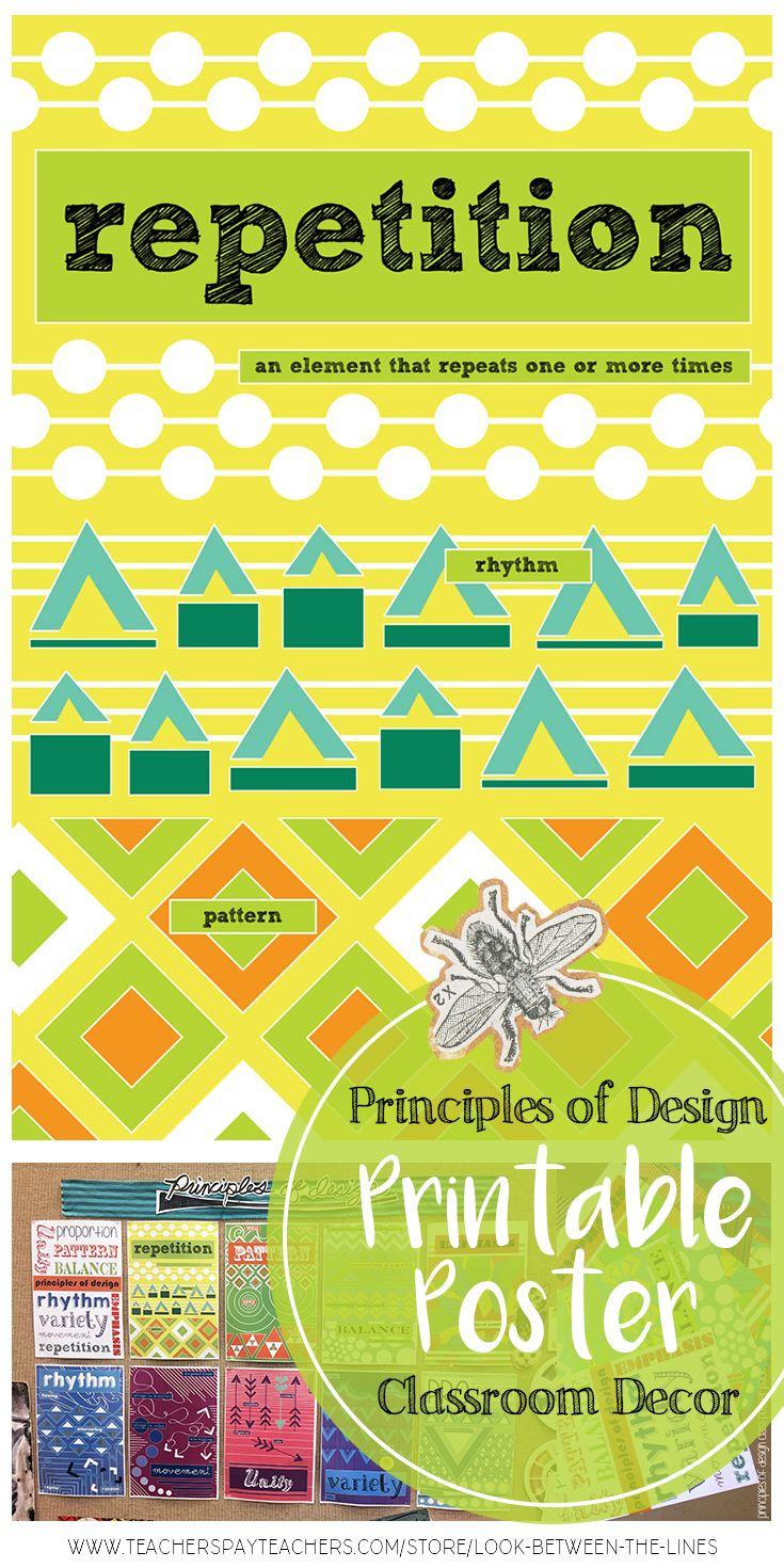 Repetition, Principles of Design Printable Posters for a Modern, Art ...