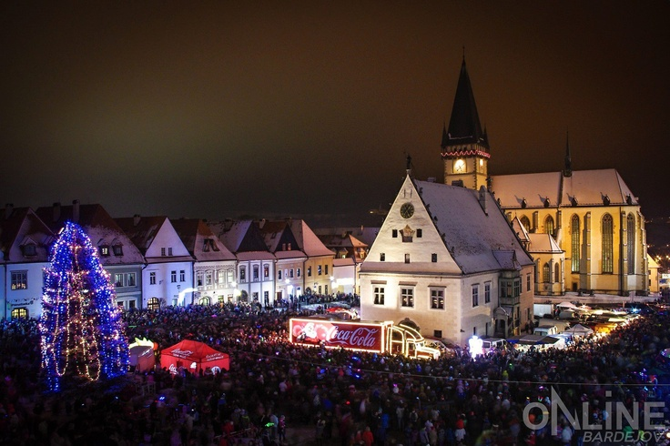 Santa is coming - Bardejov main square 5.12.2012