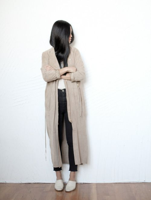 Lightweight coat. Via coffee stained cashmere