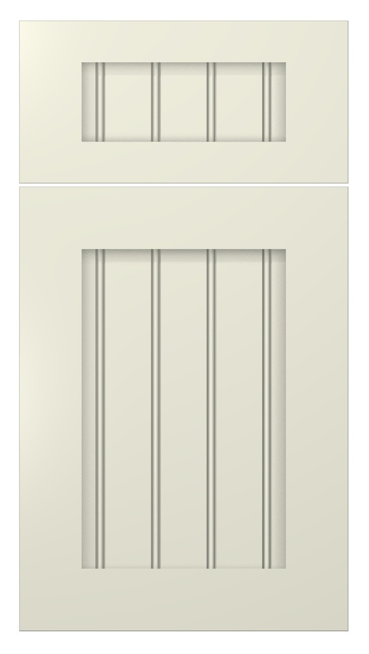 Shaker beaded door style painted antique white for Painted shaker style kitchen cabinets