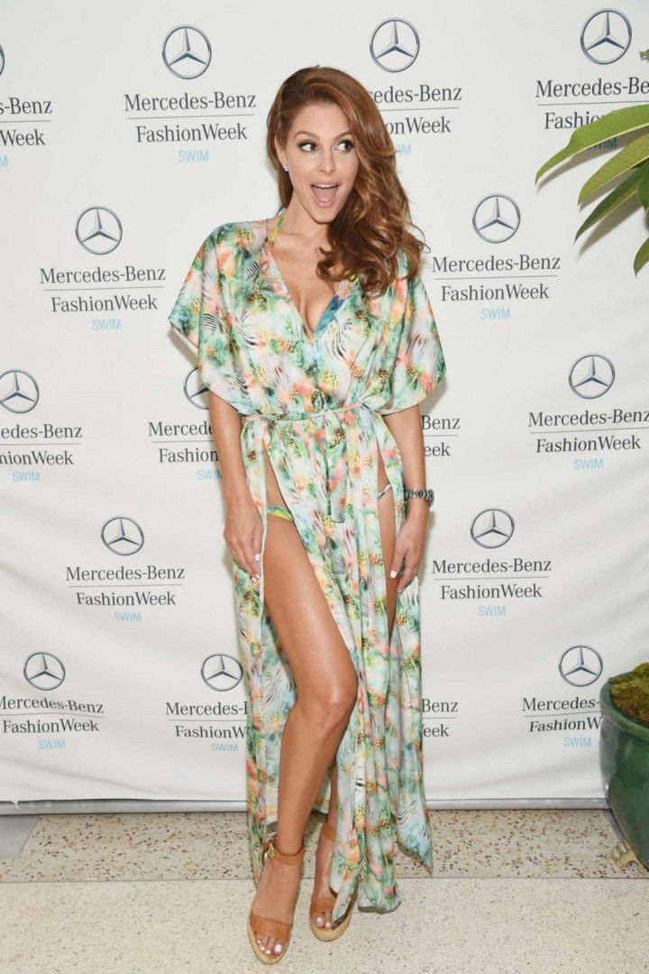 Maria Menounos at 2014 Mercedes-Benz Fashion Week Swim 2015 in Miami Beach