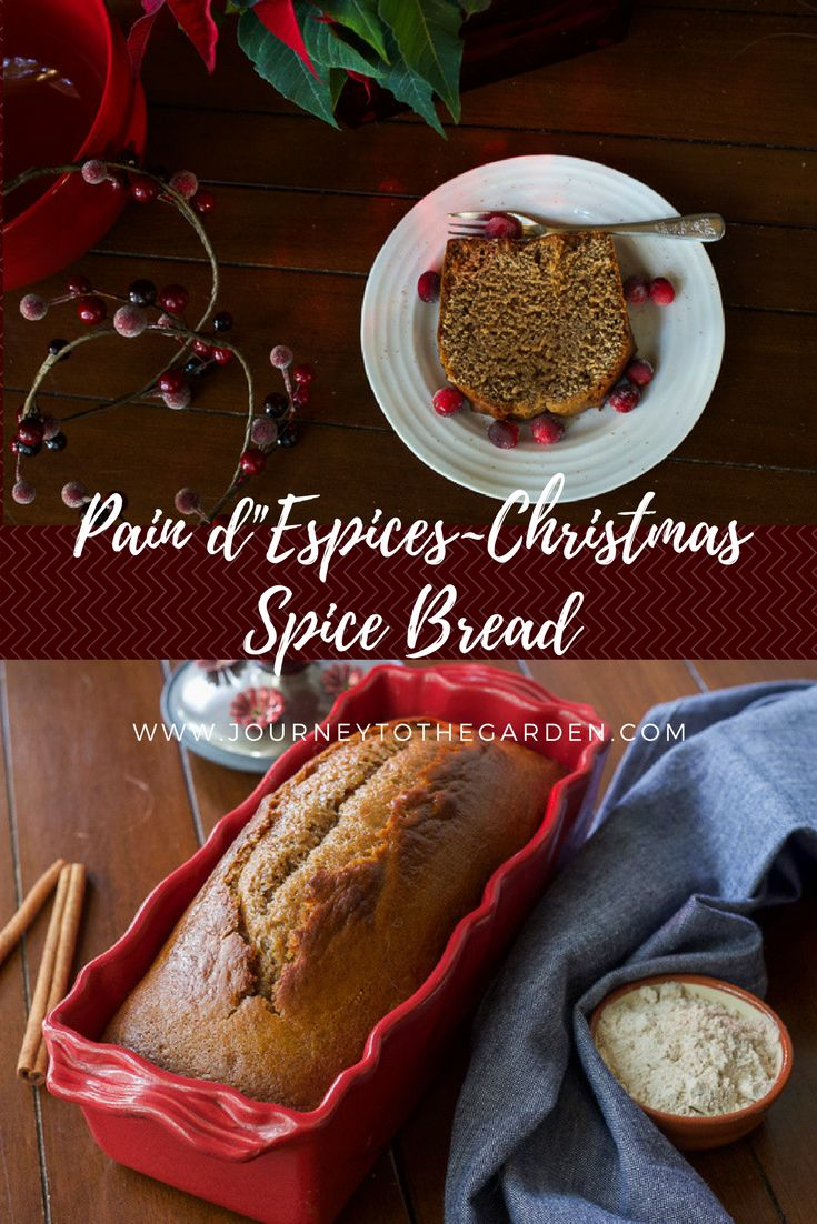 Christmas Spice Bread ~ Pain d'Espices - a flavourful quickbread which can be served at tea time, as well as a dessert to crown the Christmas season!