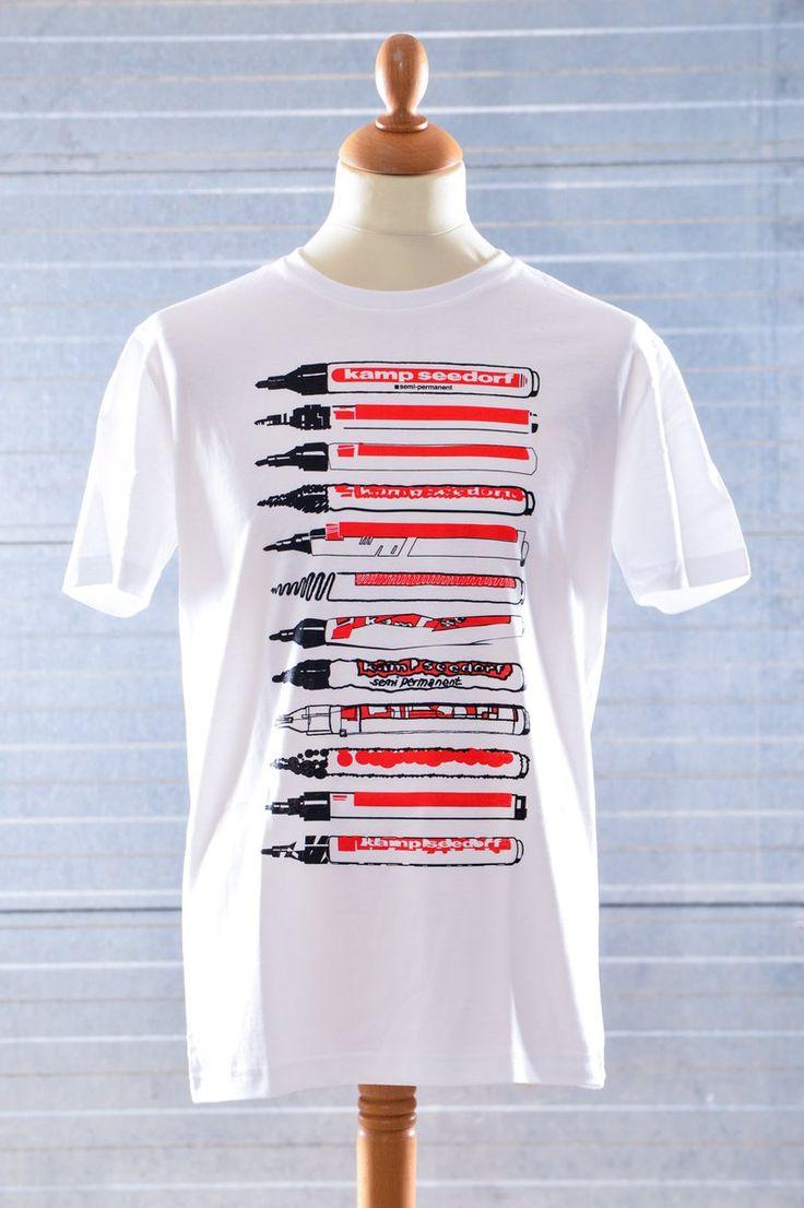 T-Shirt of edding like markers by Kamp Seedorf