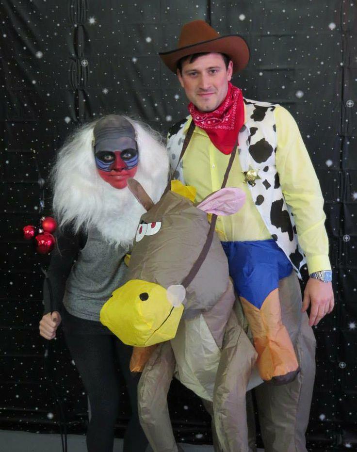 Me and my boyfriend - Rafiki and Woody fancy dress costumes!