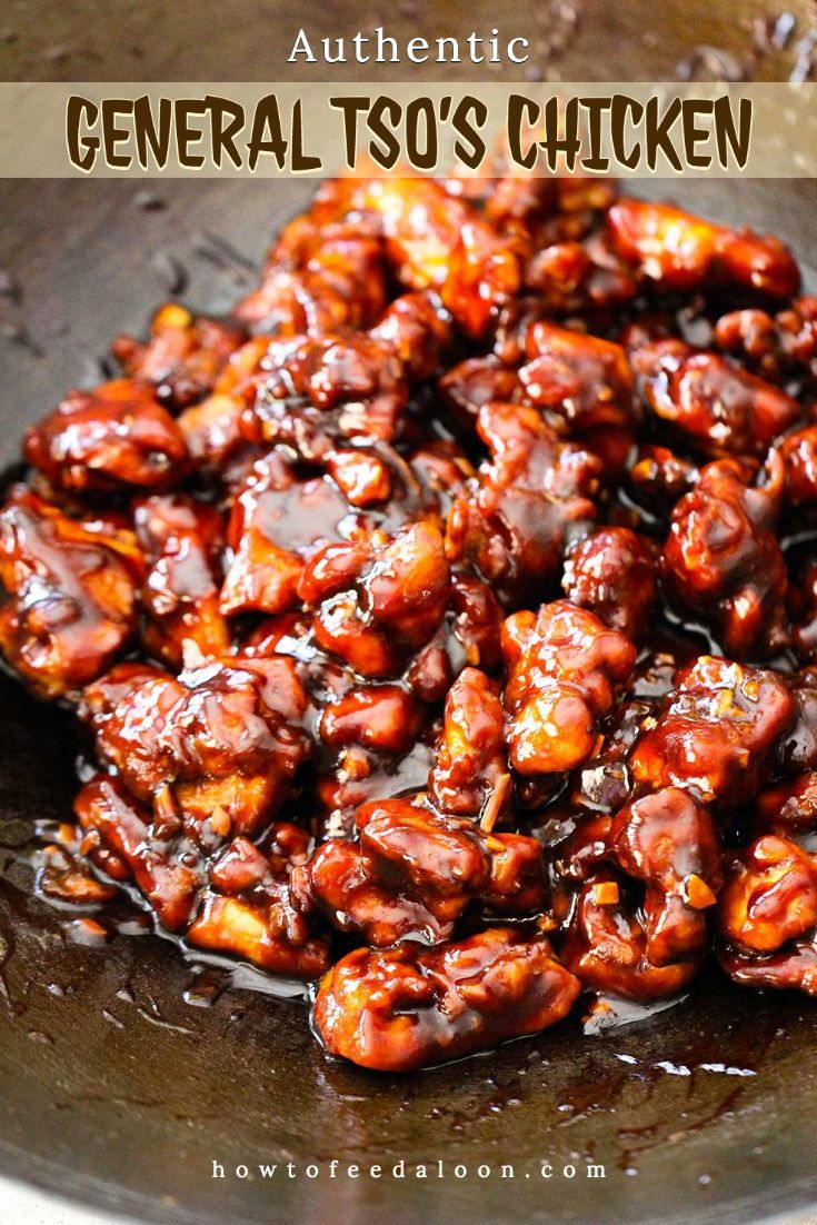 Authentic General Tso S Chicken Recipe Easy Chinese Recipes Asian Recipes Homemade Chinese Food
