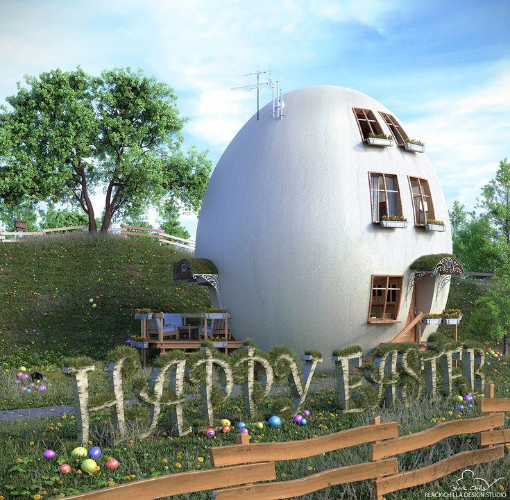 Happy Ester from Black Chilla Design Studio #design #Easter #Wielkanoc #architecture