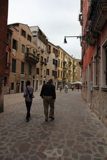 Walking amongst the canals in Venice.