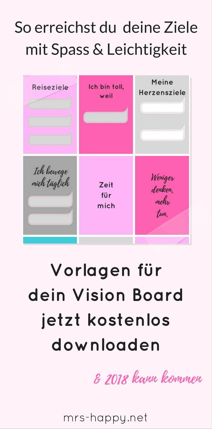 kostenlose vorlagen zur inspiration f r dein vision board so erreichst du deine ziele 2018 l. Black Bedroom Furniture Sets. Home Design Ideas