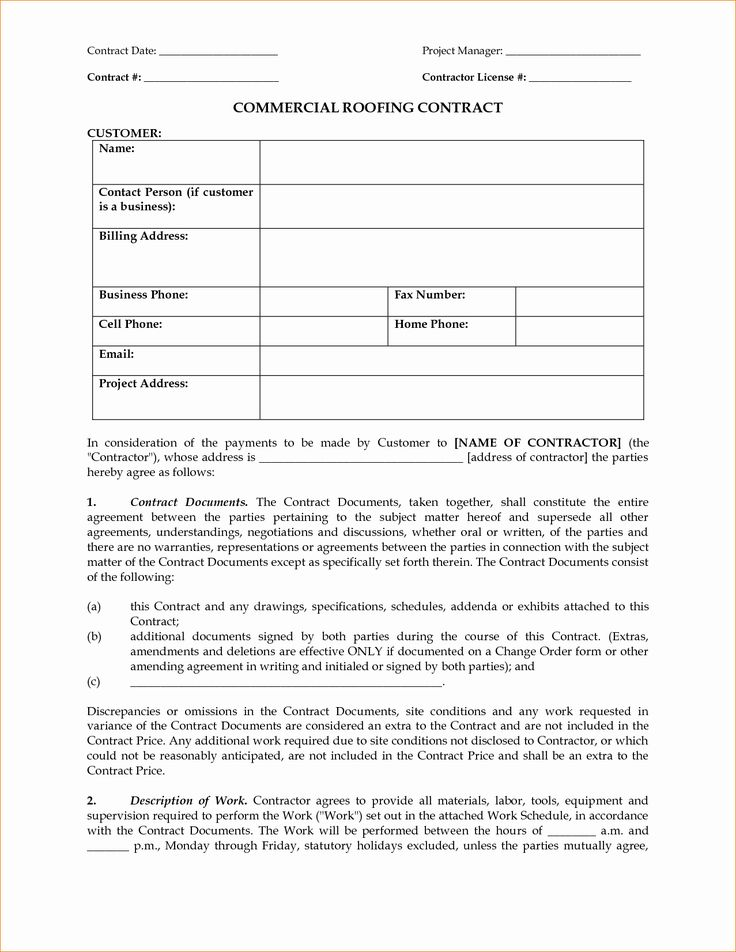 Free Residential Roofing Contract Template Beautiful Contract Roofing Contract Template In 2020 Roofing Contract Contract Template Roofing