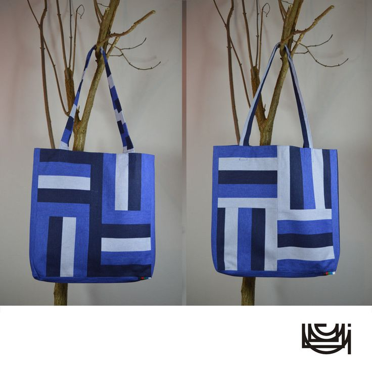 "Reversible Double Sided Shoulder Tote Bag ""Slavic Two"""