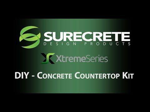 Do It Yourself Concrete Countertops Mix Kit From Start To Finish Instructions To Make Your Own Kitc With Images Concrete Countertops Diy Concrete Countertops Concrete Diy