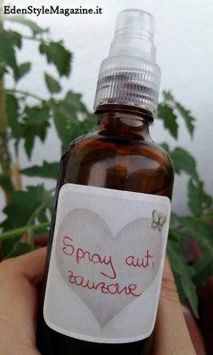 Spray anti zanzare fai da te. Ricette Cosmetici fatti in casa.