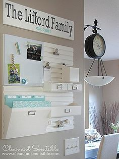 organizing a kitchen command center, cleaning organization, kitchen design, The wall organizers are really easy to install and can be customized with adds on to provide the storage that you need