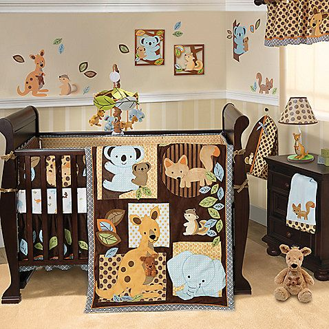 Lambs & Ivy® Animal Antics Crib Bedding Collection