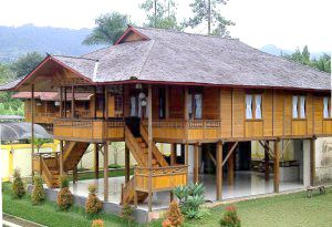 amazing design minimalist wooden house with indonesian