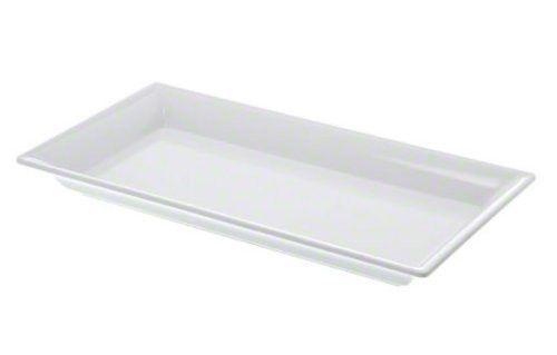 American Metalcraft MEL19 The Endurance Melamine Collection Rectangular Platter, 14-1/4-Inch, White