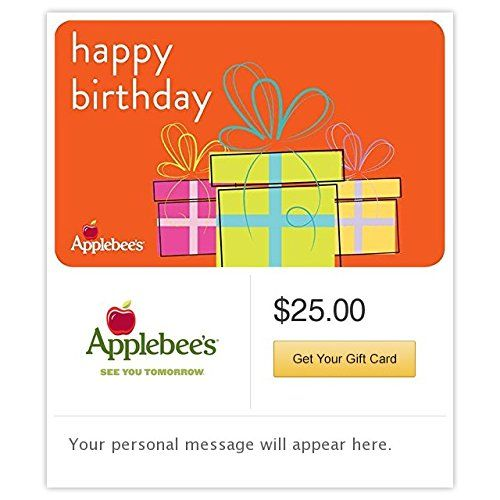 Applebees Birthday Presents Gift Cards Email Delivery Want To Know More Click On