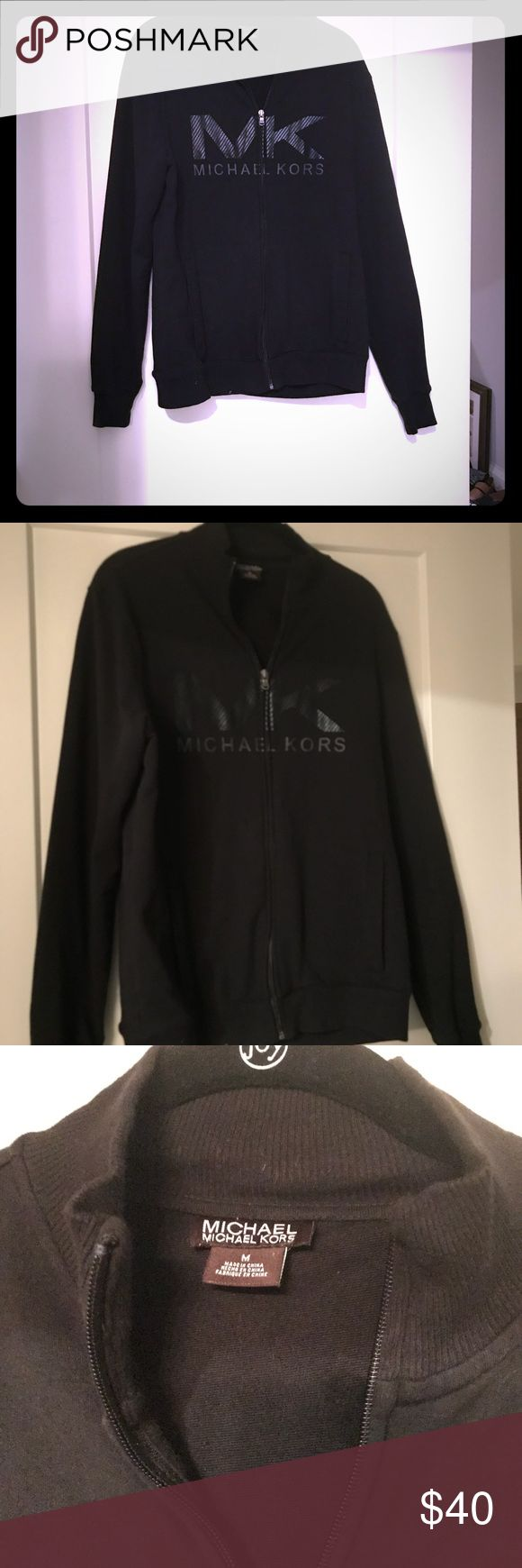 Michael Kor track jacket Michael Kors black track jacket. Size medium. Purchased at Macy's. Michael Kors Jackets & Coats Performance Jackets