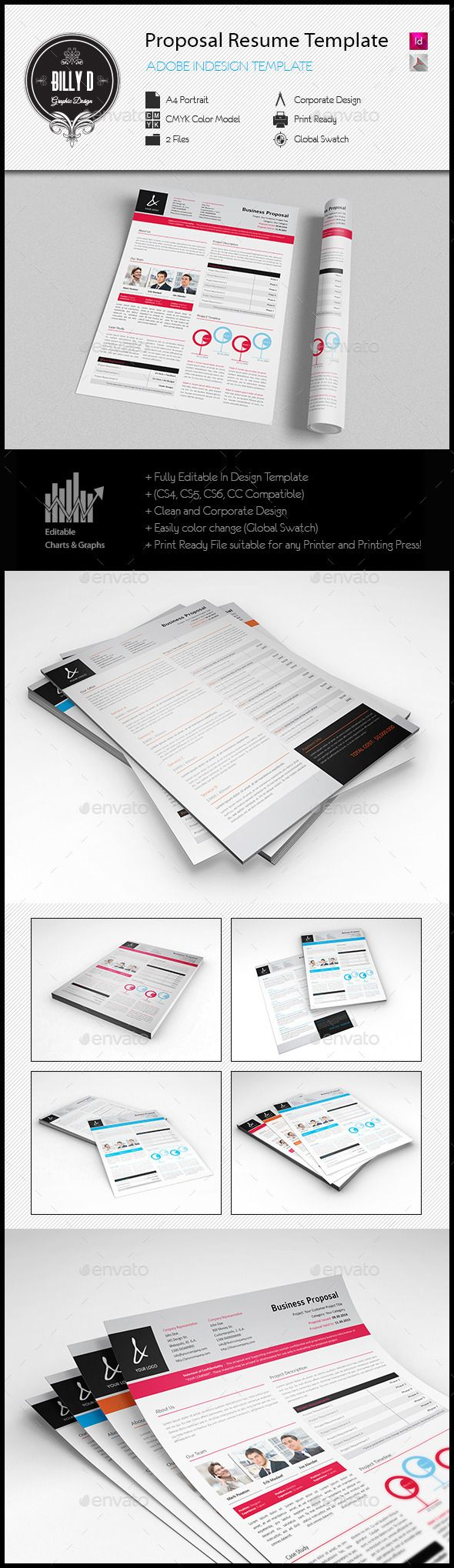 Proposal Resume Template | Download: http://graphicriver.net/item/proposal-resume-template/8888930?ref=ksioks