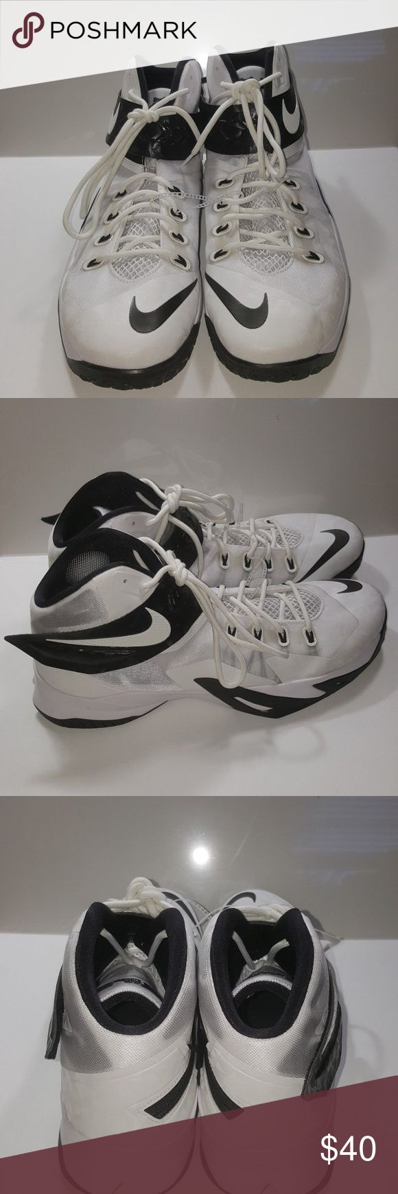 NIKE LEBRON ZOOM SOLDIER VIII 653648-100 NIKE LEBRON ZOOM SOLDIER VIII 653648-100 White Black Basketball Shoes 16.5 NEW  New without box Thank you for viewing our posh store if you have any questions please do not hesitate to ask questions about the items you want to buy. We are constantly working on improving our customer service and overall satisfaction. Follow our posh store for updates and deals, thank you for supporting us. Nike Shoes Athletic Shoes