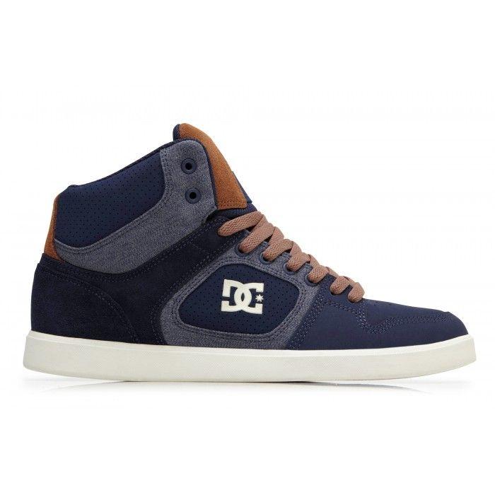 Dc shoes union hi chaussure montante bleu marine et marron